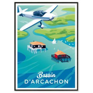 Affiche Bassin d'Arcachon